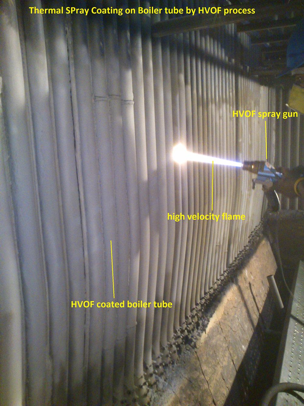 Boiler Tube Coating Furnace Elbow Coating By Arc Spray
