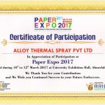 PAPER EXPO 2017: Certificate of Participation
