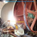 Duel coating grinding applied on paper mill cylinder