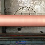 Copper Coating of roll.