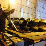 HVOF coating on Francis Turbine Runner
