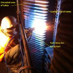 Twin Arc wire coating on boiler tube 2