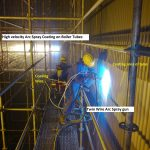 Twin Wire Arc coating on to Boiler tubes